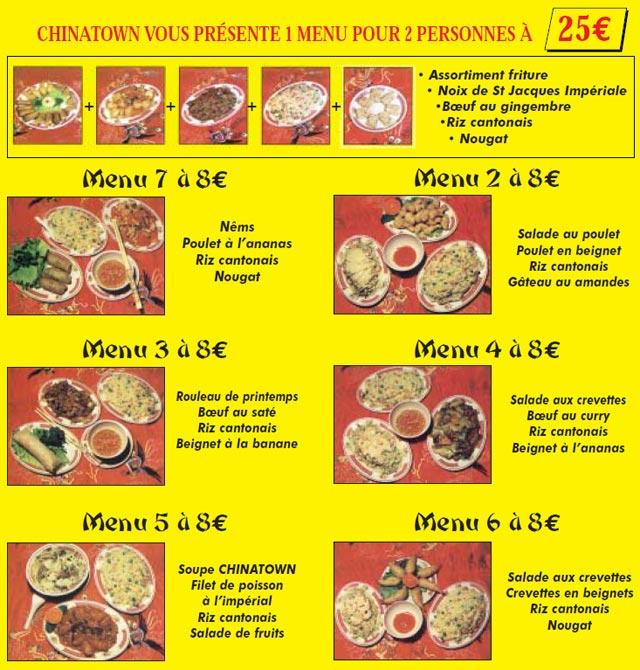 Restaurant Chinois Dorion Win Wah Menu